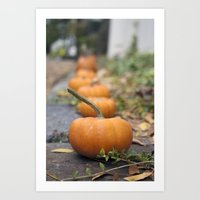 Pumkin Row Art Print
