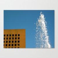 Fountain And Sky Canvas Print
