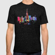 New York Inked  Mens Fitted Tee Tri-Black SMALL