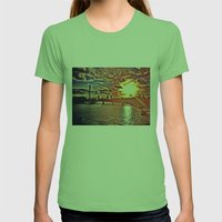 Sunset Over London Womens Fitted Tee Grass SMALL