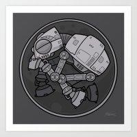Imperial Walker AT-AT Ba… Art Print