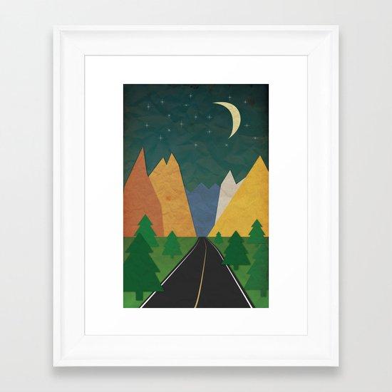 Somewhere going Nowhere Framed Art Print