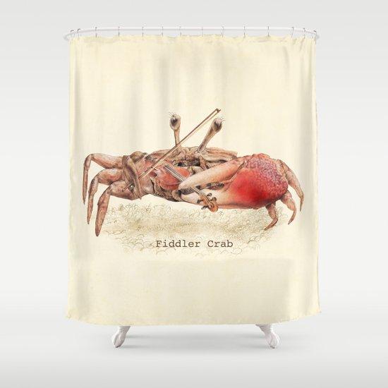 Fiddler Crab Shower Curtain