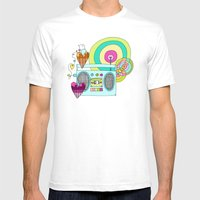 I WANNA ROCK!  Mens Fitted Tee White SMALL
