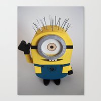 Wooden Toy Minion Canvas Print