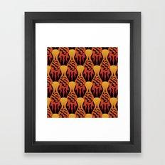 SCORCH pattern [BLACK] Framed Art Print