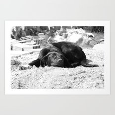 el perro negrito Art Print