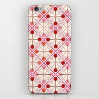 Crosses & Dots (red + Pi… iPhone & iPod Skin