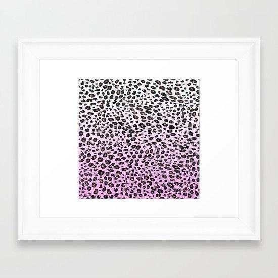 PINK LEOPARD  Framed Art Print