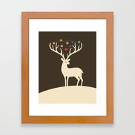 My Deer Universe Framed Art Print