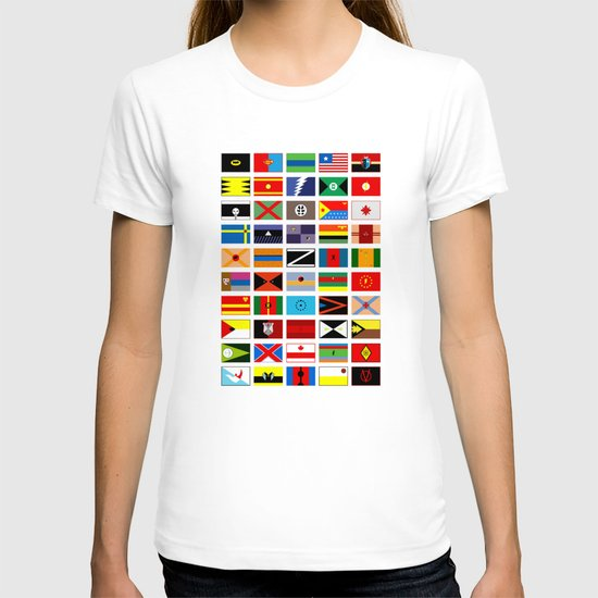 SH as flags T-shirt