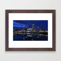 City reflections Columbus Ohio Framed Art Print