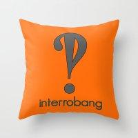 Interrobang, Serif Throw Pillow