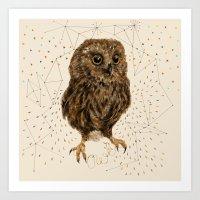 Mr.Owl IV Art Print