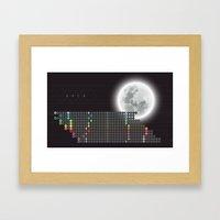 Moon Calendar 2015 By Fr… Framed Art Print