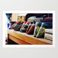 Footbinding slippers Art Print