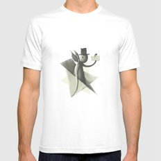 Will die to live Mens Fitted Tee SMALL White