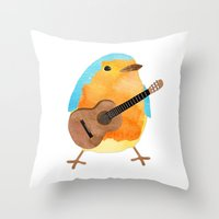 music bird Throw Pillow