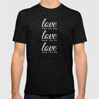 Love Who Love Do Mens Fitted Tee Tri-Black SMALL