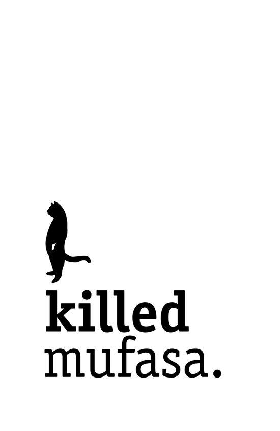 Killed Mufasa Art Print