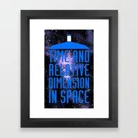 Doctor Who: The Tardis! … Framed Art Print