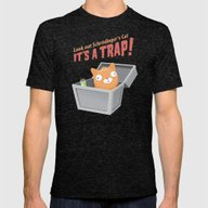 It's A Trap! Mens Fitted Tee Tri-Black SMALL