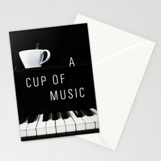 Piano & Coffee Stationery Cards