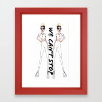 We Can't Stop. Framed Art Print