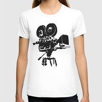 For Reel Womens Fitted Tee White SMALL