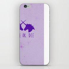 Ride or Die x Unicorns x Purple iPhone & iPod Skin