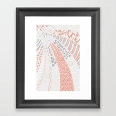 Orange world Framed Art Print