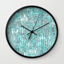 The Cold Never Bothered Me Anyway  (Frozen Icicle Abstract) Wall Clock