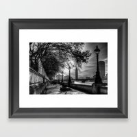 River Thames Path Framed Art Print