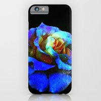 iPhone Cases featuring Sapphire Heaven Rose by minx267