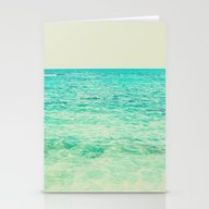 Stationery Cards featuring Ocean by M Studio