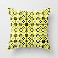 All-Over Yellow Fru Fru Throw Pillow