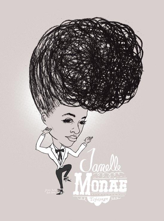 Janelle Monáe  'Tightrope' Art Print