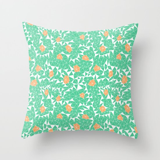 Berries and Mint Throw Pillow