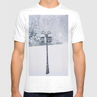 Welcome To Narnia Mens Fitted Tee White SMALL