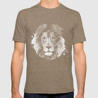 Lion's Mark Mens Fitted Tee Tri-Coffee SMALL