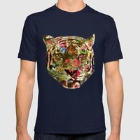 Tiger Mens Fitted Tee Navy SMALL
