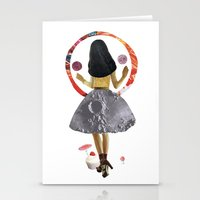dancing on the moon Stationery Cards