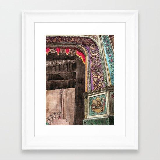 stage left Framed Art Print