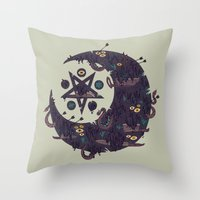The Dark Moon Compels Yo… Throw Pillow