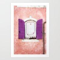 CAORLE WINDOW Art Print