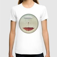 rain T-shirts featuring embracing the rain by vin zzep