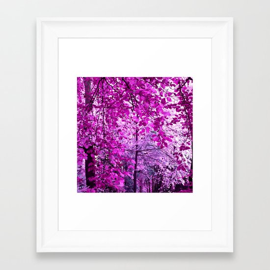 purple forest II Framed Art Print