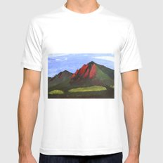 Flatirons White SMALL Mens Fitted Tee