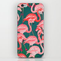 flamingo tropical  iPhone & iPod Skin