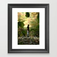 Stranger in the Shadows. Framed Art Print
